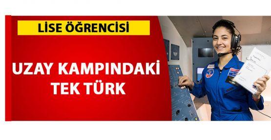 Liseli Selin ABD'deki uzay kampına bu sene katılan tek Türk oldu