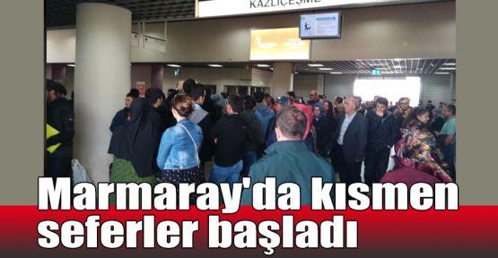 Marmaray'da kısmen seferler başladı