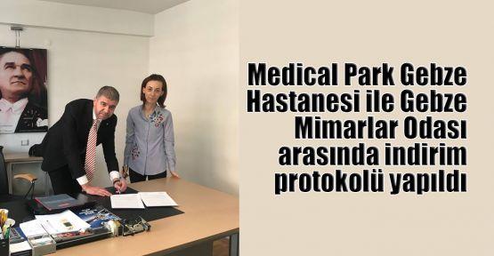 Medical Park Gebze Hastanesi ile Gebze Mimarlar Odası arasında indirim protokolü