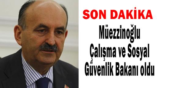 Mehmet Müezzinoğlu Çalışma ve Sosyal Güvenlik Bakanı oldu