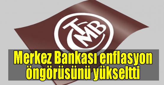 Merkez Bankası enflasyon öngörüsünü yükseltti
