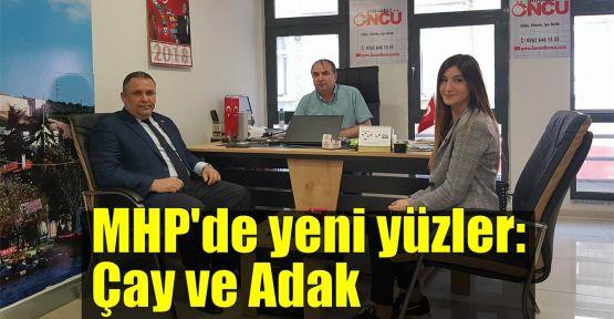 MHP'de yeni yüzler: Çay ve Adak