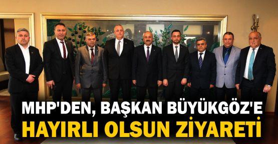 MHP'den, Başkan Büyükgöz'e hayırlı olsun ziyareti