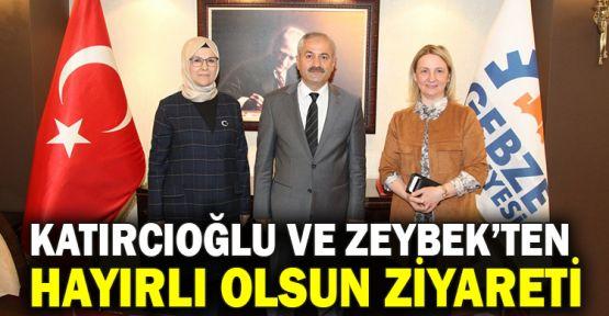 Milletvekilleri Katırcıoğlu ve Zeybek'ten hayırlı olsun ziyareti