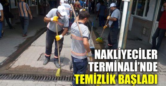 Nakliyeciler Terminali'nde temizlik başladı