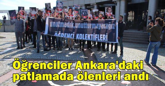 Öğrenciler Ankara'daki patlamada ölenleri andı
