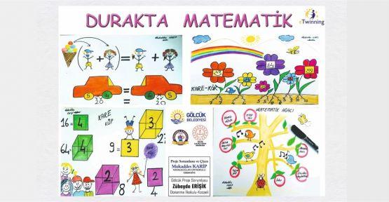 Öğrenciler durakta matematik öğrenecek