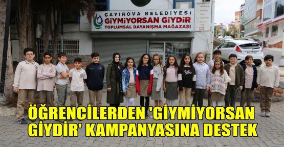 Öğrencilerden 'Giymiyorsan Giydir' kampanyasına destek