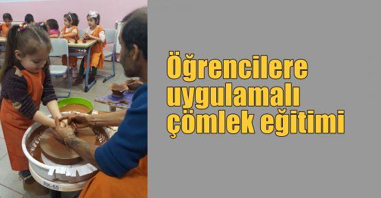 Öğrencilere uygulamalı çömlek eğitimi