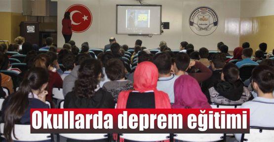 Okullarda deprem eğitimi