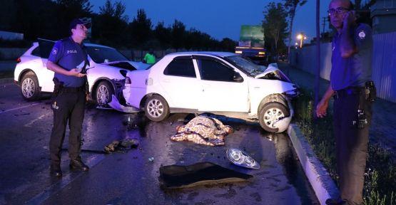 Otomobil ile cip çarpıştı: 1 ölü