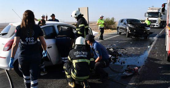 Otomobille cip çarpıştı: 1 ölü, 3 yaralı
