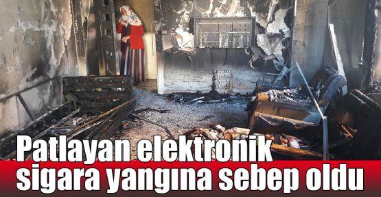 Patlayan elektronik sigara yangına sebep oldu