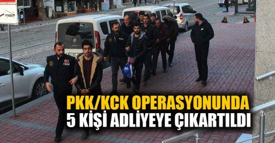 PKK/KCK operasyonunda 5 kişi adliyede