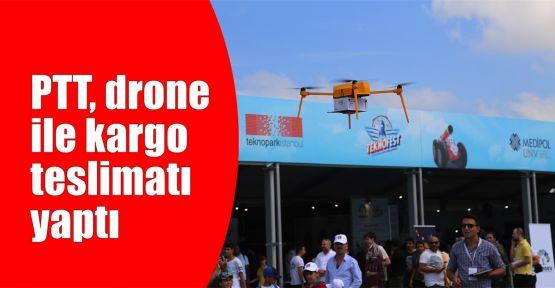 PTT, drone ile kargo teslimatı yaptı