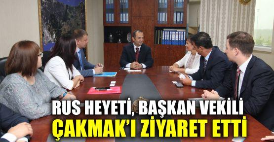 Rus heyeti, Başkan Vekili Çakmak'ı ziyaret etti