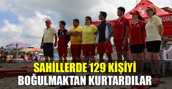 Sahillerde 129 kişiyi boğulmaktan kurtardılar