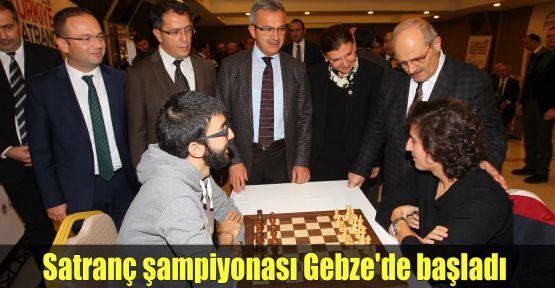 Satranç şampiyonası Gebze'de başladı