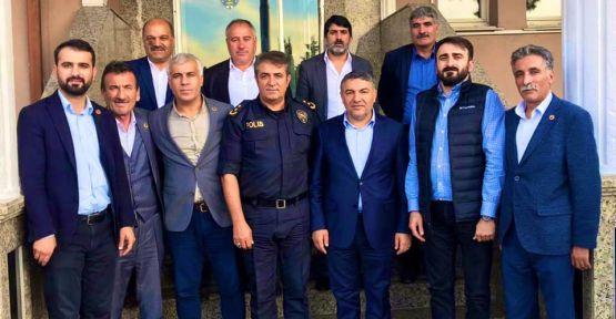Şayir'den, Emniyet Müdürü Uzun'a hayırlı olsun ziyareti