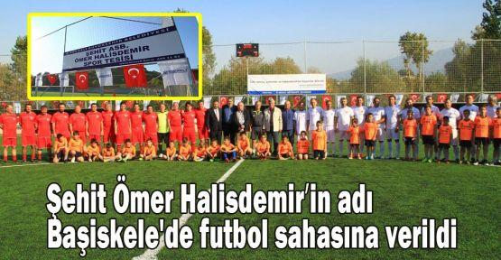 Şehit Halisdemir'in adı Başiskele'de futbol sahasına verildi