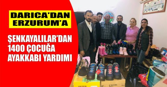 Şenkayalılar'dan 1400 çocuğa ayakkabı yardımı