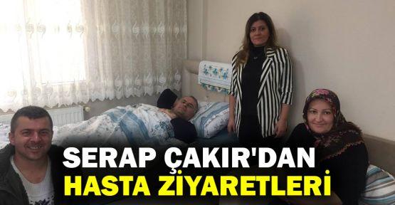 Serap Çakır'dan hasta ziyaretleri