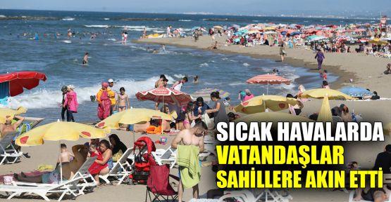 Sıcak havalarda vatandaşlar sahillere akın etti
