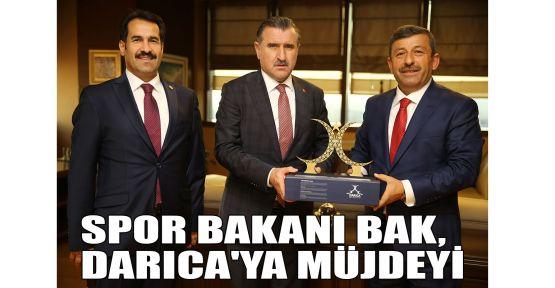 Spor Bakanı Bak, Darıca'ya müjdeyi verdi