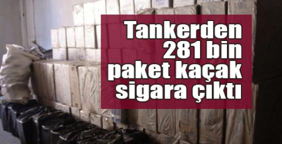 Tankerden 281 bin paket kaçak sigara çıktı