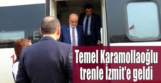 Temel Karamollaoğlu trenle İzmit'e geldi
