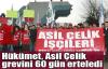 Hükümet, Asil Çelik grevini 60 gün erteledi
