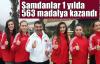 Şamdan'dan 1 yılda 563 madalya