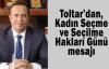 Toltar'dan, Kadın Seçme ve Seçilme Hakları Günü mesajı
