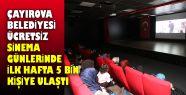 Çayırova Belediyesi ücretsiz sinema günlerinde...