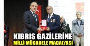 Kıbrıs gazilerine Milli Mücadele Madalyası...