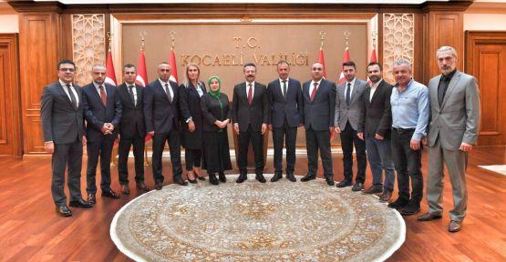 Trabzonlular Derneği'nden Vali Aksoy'a ziyaret