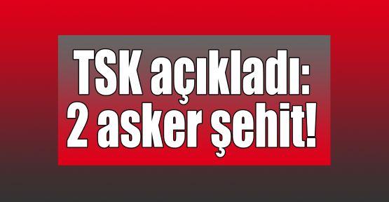 TSK açıkladı: 2 asker şehit!
