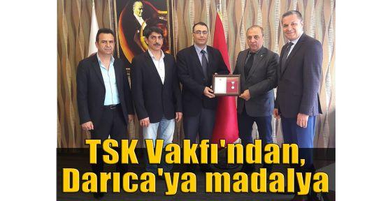 TSK Vakfı'ndan, Darıca'ya madalya ödülü