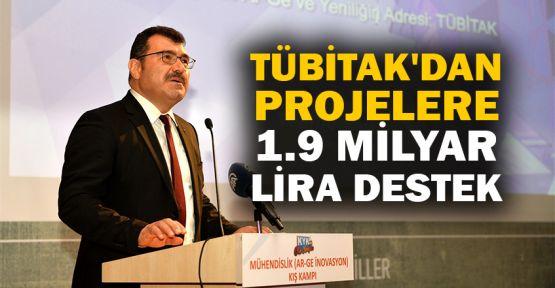 TÜBİTAK'ın projeleri destekleme tutarı 1,9 milyar lira