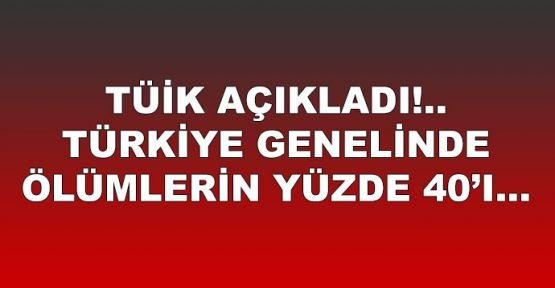 TÜİK açıkladı... Türkiye genelinde ölümlerin yüzde 40'ı...