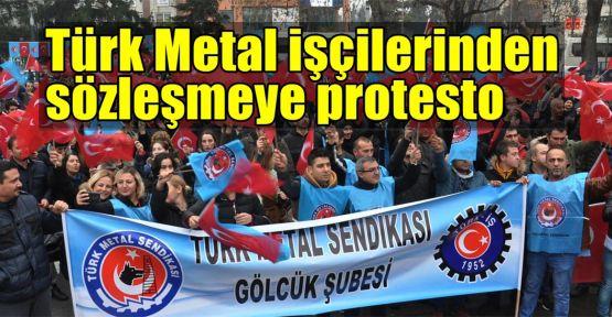 Türk Metal işçilerinden protesto