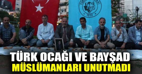 Türk Ocağı ve BAYŞAD zor durumdaki müslümanları unutmadı