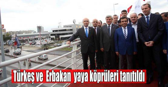 Türkeş ve Erbakan yaya köprüleri tanıtıldı