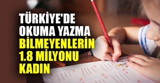 Türkiye'de okuma yazma bilmeyenlerin 1.8 milyonu kadın