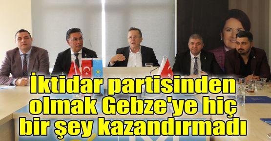 Türkkan: İktidar partisinden olmak Gebze'ye hiç bir şey kazandırmadı