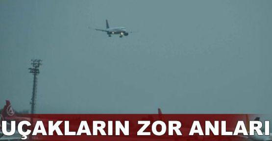 Uçaklar fırtınada böyle sallandı