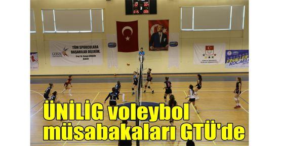 ÜNİLİG voleybol müsabakaları GTÜ'de