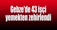 Gebze'de 43 işçi yemekten zehirlendi