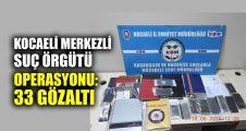 Kocaeli merkezli suç örgütü operasyonu: 33 gözaltı