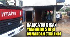 Darıca'da çıkan yangında 5 kişi dumandan etkilendi